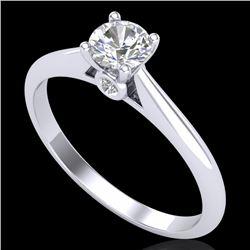 0.4 CTW VS/SI Diamond Solitaire Art Deco Ring 18K White Gold - REF-58T2M - 37277