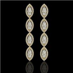 5.33 CTW Marquise Diamond Designer Earrings 18K Yellow Gold - REF-986H2A - 42658