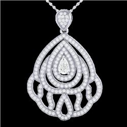 2 CTW Micro Pave VS/SI Diamond Designer necklace 18K White Gold - REF-272T8M - 21264