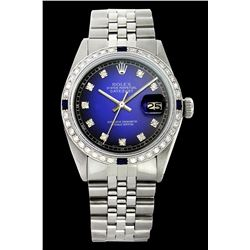 Rolex Ladies Stainless Steel, Diam Dial & Diam/Sapphire Bezel, Sapphire Crystal - REF-431W4H