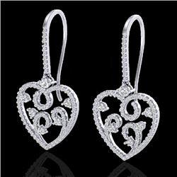 2.50 CTW VS/SI Diamond Micro Pave Designer Earrings 14K White Gold - REF-179W3F - 20097