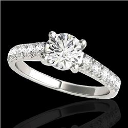 2.1 CTW H-SI/I Certified Diamond Solitaire Ring 10K White Gold - REF-402W8F - 35498