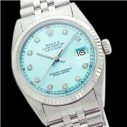 Rolex Ladies Stainless Steel, Diamond Dial with Fluted Bezel, Sapphire Crystal - REF-321A8N