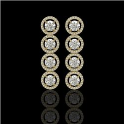 5.36 CTW Diamond Designer Earrings 18K Yellow Gold - REF-842M2H - 42586