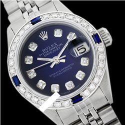 Rolex Ladies Stainless Steel, Diam Dial & Diam/Sapphire Bezel, Sapphire Crystal - REF-431F3M