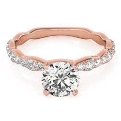 0.93 CTW Certified VS/SI Diamond Solitaire Ring 18K Rose Gold - REF-117H3A - 27472