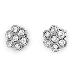1.80 CTW Certified VS/SI Diamond Earrings 14K White Gold - REF-122F5N - 11277