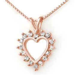 1.0 CTW Certified VS/SI Diamond Pendant 18K Rose Gold - REF-76K4W - 13383