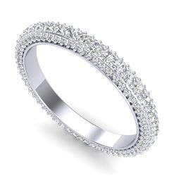 1.75 CTW VS/SI Diamond Art Deco Eternity Ring 18K White Gold - REF-149A3X - 37211