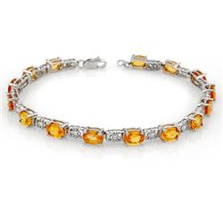 11.0 CTW Yellow Sapphire Bracelet 10K White Gold - REF-69W3F - 11473