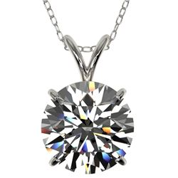 2.53 CTW Certified H-SI/I Quality Diamond Solitaire Necklace 10K White Gold - REF-870A2X - 36818