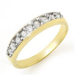 0.33 CTW Certified VS/SI Diamond Ring 10K Yellow Gold - REF-37N8Y - 12772