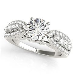 1.45 CTW Certified VS/SI Diamond Solitaire Ring 18K White Gold - REF-240N4Y - 27870