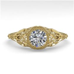 0.50 CTW VS/SI Diamond Solitaire Engagement Ring 18K Yellow Gold - REF-107W3F - 36019