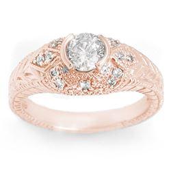 0.75 CTW Certified VS/SI Diamond Ring 14K Rose Gold - REF-115Y8K - 11649