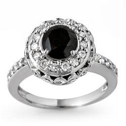 2.64 CTW VS Certified Black & White Diamond Ring 14K White Gold - REF-127W3F - 11793