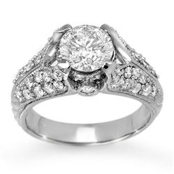 2.20 CTW Certified VS/SI Diamond Ring 14K White Gold - REF-554H3A - 11867