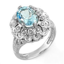 2.25 CTW Aquamarine Ring 10K White Gold - REF-36M2H - 11166