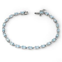 8.08 CTW Blue Topaz Bracelet 10K White Gold - REF-41A8X - 13686
