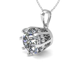 1 CTW VS/SI Diamond Solitaire Necklace 18K White Gold - REF-280H2A - 35712