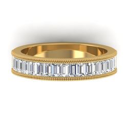 1.50 CTW Baguette Certified VS/SI Diamond Art Deco Eternity 14K Yellow Gold - REF-161K8W - 30320