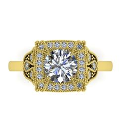 1.75 CTW Solitaire Certified VS/SI Diamond Ring 14K Yellow Gold - REF-496T4M - 38555