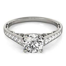 1.35 CTW Certified VS/SI Diamond Solitaire Ring 18K White Gold - REF-358K9W - 27516