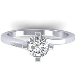 1 CTW Certified VS/SI Diamond Solitaire Ring 14K White Gold - REF-278H3A - 30396