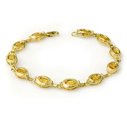 5.05 CTW Citrine Bracelet 10K Yellow Gold - REF-34H8A - 13577