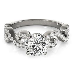 0.9 CTW Certified VS/SI Diamond Solitaire Ring 18K White Gold - REF-131M3H - 27852