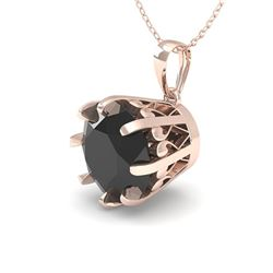 2.0 CTW Black VS/SI Diamond Solitaire Necklace 18K Rose Gold - REF-70W2F - 35735
