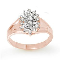 0.25 CTW Certified VS/SI Diamond Ring 18K Rose Gold - REF-41K3W - 13393