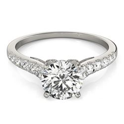0.65 CTW Certified VS/SI Diamond Solitaire Ring 18K White Gold - REF-76X5T - 27489