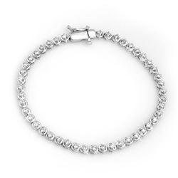 1.50 CTW Certified VS/SI Diamond Bracelet 10K White Gold - REF-123M3H - 11670