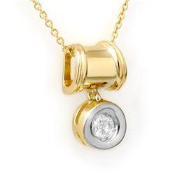 0.16 CTW Certified VS/SI Diamond Pendant 14K Yellow Gold - REF-21T8M - 13575