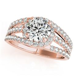 1 CTW Certified VS/SI Diamond Solitaire Wedding Ring 18K Rose Gold - REF-152X2T - 27976