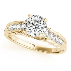 0.7 CTW Certified VS/SI Diamond Solitaire Ring 18K Yellow Gold - REF-114K5W - 27533