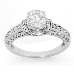 1.60 CTW Certified VS/SI Diamond Ring 14K White Gold - REF-283H6A - 11593