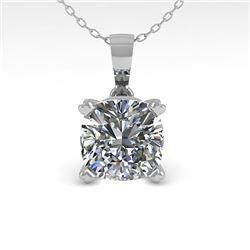 0.50 CTW VS/SI Cushion Diamond Designer Necklace 14K Rose Gold - REF-85W8F - 38412