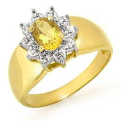 0.40 CTW Citrine Ring 10K Yellow Gold - REF-15N3Y - 12652