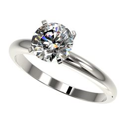 1.55 CTW Certified H-SI/I Quality Diamond Solitaire Engagement Ring 10K White Gold - REF-400N2Y - 36