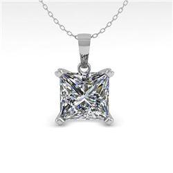 0.50 CTW VS/SI Princess Diamond Designer Necklace 14K Rose Gold - REF-85X8T - 38409