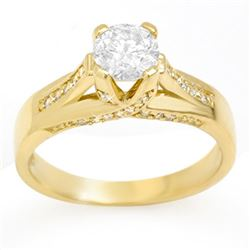 1.18 CTW Certified VS/SI Diamond Ring 14K Yellow Gold - REF-263K4W - 11379
