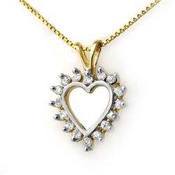 0.25 CTW Certified VS/SI Diamond Pendant 18K Yellow Gold - REF-29W5F - 13330