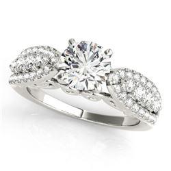 1.7 CTW Certified VS/SI Diamond Solitaire Ring 18K White Gold - REF-414W9F - 27873