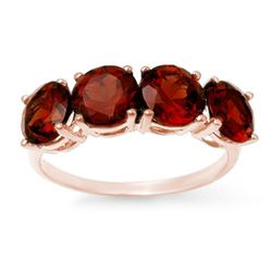 3.66 CTW Garnet Ring 18K Rose Gold - REF-37N3Y - 12808