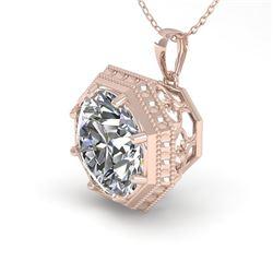 1 CTW VS/SI Diamond Solitaire Necklace 18K Rose Gold - REF-284A3X - 35993