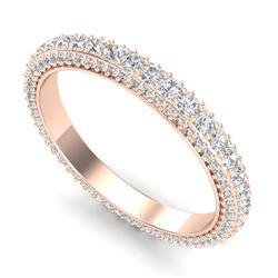 1.75 CTW VS/SI Diamond Art Deco Eternity Ring 18K Rose Gold - REF-149Y3K - 37212