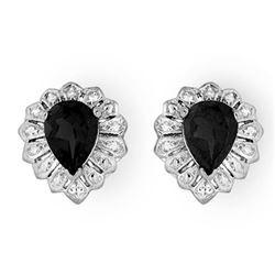 2.20 CTW Blue Sapphire Earrings 18K White Gold - REF-32F2N - 13813