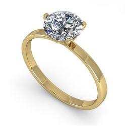 0.50 CTW Certified VS/SI Diamond Engagement Ring Martini 18K Yellow Gold - REF-95X6T - 32224